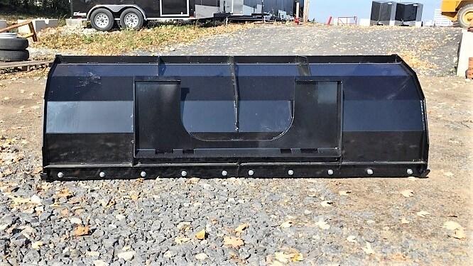 Gratte réversible pelle tracteur noire attache skid steer couteau acier trempé