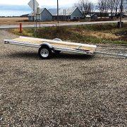 Remorque 52 po x 12 pieds pour motoneige en acier galvanisé Remeq