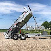 6x12 2x5200 lbs Remorque dompeur en acier galvanisé K-Trail D612-10-PS