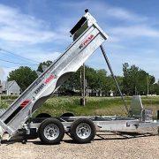 Remorque 6x12 2x5200 lbs dompeur K-Trail acier galvanisé porte double fonction D612-10-PS