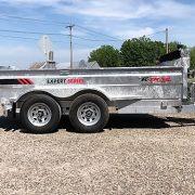 Remorque 6x12 2x5200 lbs dompeur K-Trail en acier galvanisé porte double fonction D612-10-PS