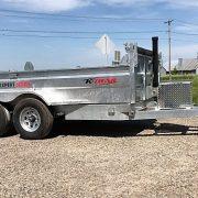 Remorque 6x12 dompeur 2x5200 lbs K-Trail acier galvanisé porte double fonction D612-10-PS