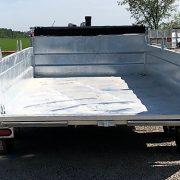 Remorque 6x12 dompeur 2x5200 lbs K-Trail en acier galvanisé porte double fonction D612-10-PS