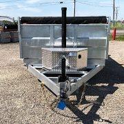 Remorque 6x12 dompeur K-Trail acier galvanisé 2x5200 lbs porte double fonction D612-10-PS