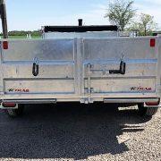 Remorque 6x12 dompeur K-Trail acier galvanisé porte double fonction D612-10-PS 2x5200 lbs