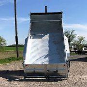 Remorque 6x12 dompeur K-Trail en acier galvanisé 2x5200 lbs porte double fonction D612-10-PS