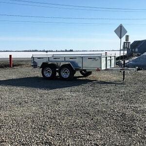 5x10 2x3500 lbs Remorque Laroche côtés 16 po freins acier galvanisé GAT5X10