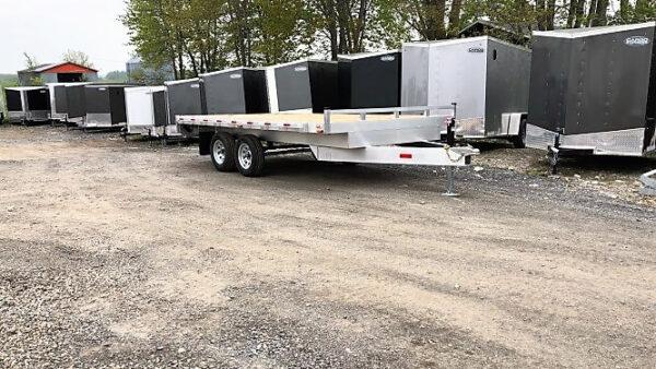 101x14 2x3500 lbs en aluminium Remorque plateforme Deckover
