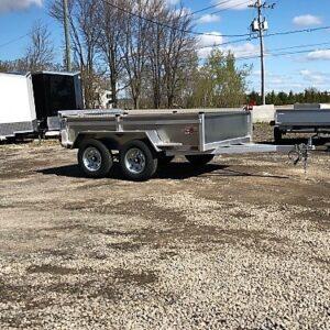5x8 Remorque en aluminium 2x2500 lbs avec porte rampe