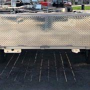 Remorque 5x8 en aluminium 2x2000 lbs côtés 16 po porte rampe 2 section LED