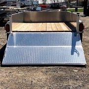 Remorque 5x8 en aluminium 2x2000 lbs porte rampe 2 section LED côtés 16 po