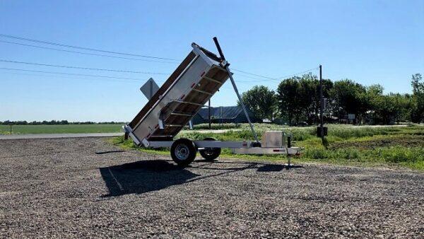 5x10 5200 lbs en aluminium Remorque dompeur hydraulique