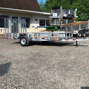 6.5x12 essieu 3500 lbs Remorque Laroche en acier galvanisé avec porte rampe HD