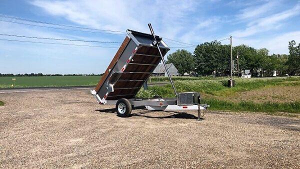 6x10 5200 lbs en aluminium Remorque dompeur hydraulique