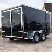 Remorque fermée 7x12x6 noire 2x3500 lbs V-nose freins Cargo Express XLSE noire