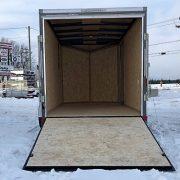 Remorque fermée 6x12x6 V-nose porte rampe Cargo Express XLSE charcoal