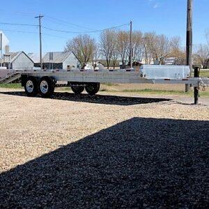 102x20+5 2x7000 lbs avec Rampes Remorque plateforme deck over en acier galvanisé Laroche