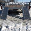 Remorque 80x20 2x5200 lbs aluminium rampes plateforme car hauleur pieds stabilisateurs