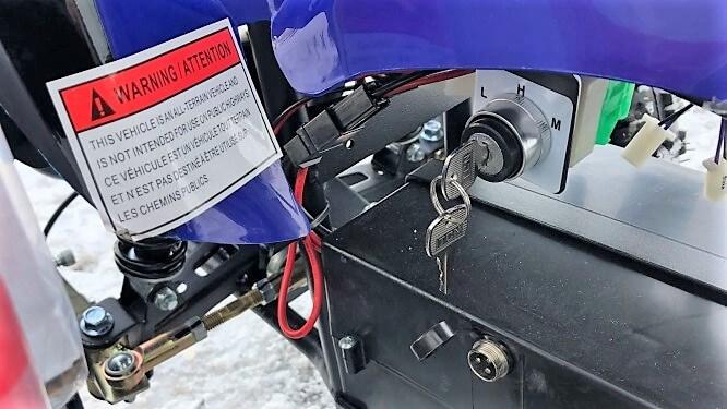 VTT Manteray électrique 36 volts 500 watts bleu