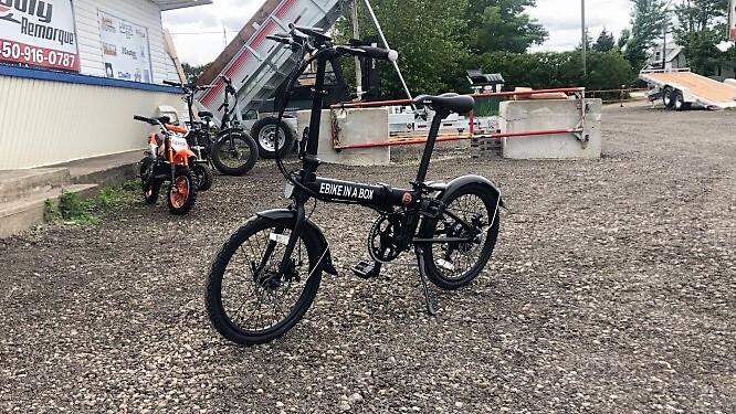 Vélo électrique Daymak 36 volts ebikeinabox 250 watts noir 41 lbs