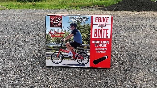 Vélo électrique ebikeineabox Daymak 36 volts 250 watts noir 41 lbs ebikeinabox